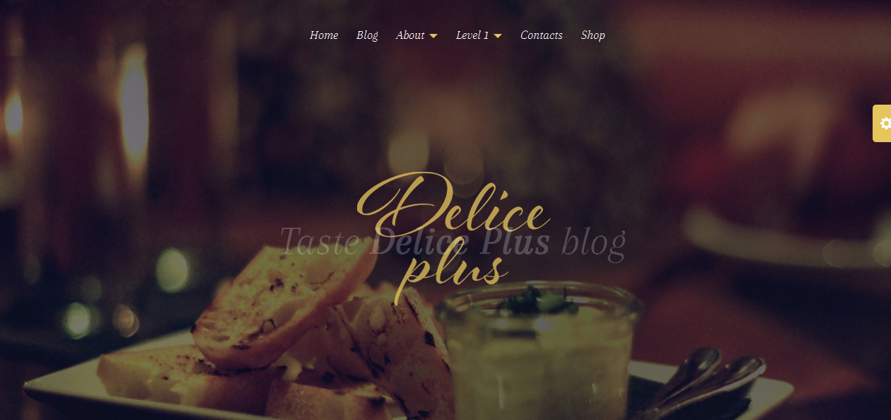 Delice Plus - Cooking WordPress Themes