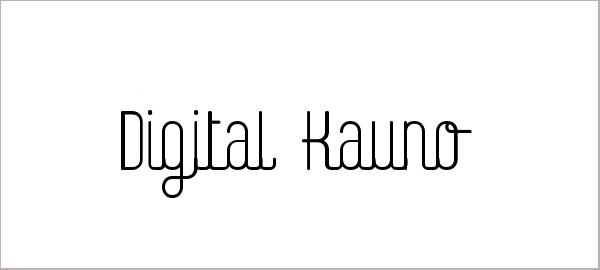 Digital Kauno Font