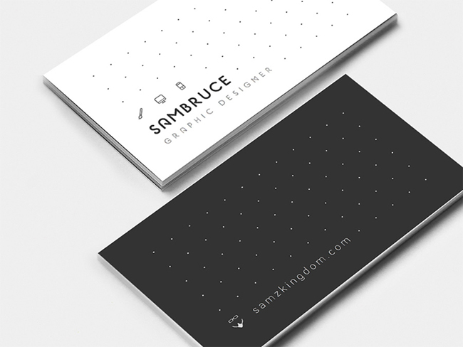 Dotted Business Card Design