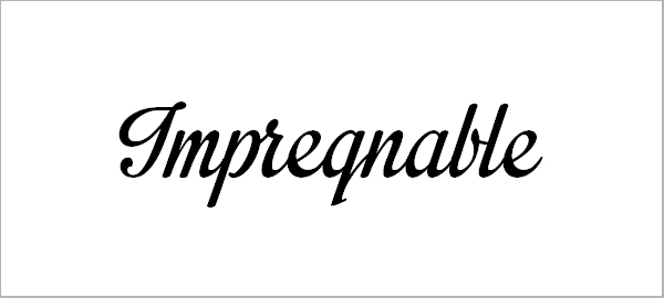 Impregnable Personal Use Only Font