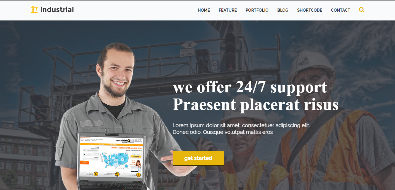 Industrial - painting WordPress themes
