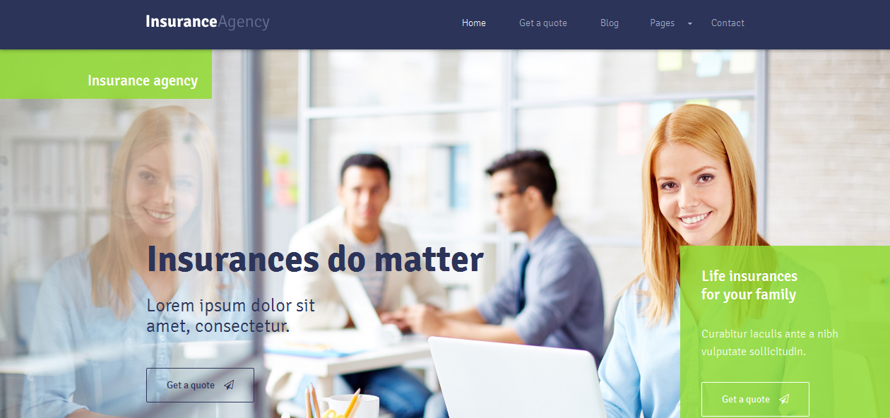 Insurance - Insurance Company WordPress Premium Themes