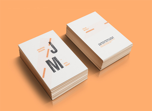 20 best minimalistic business cards designs themecot julia miceli personal branding colourmoves Images