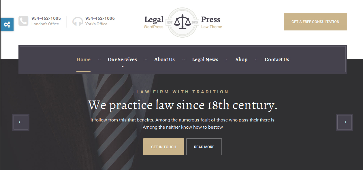 LegalPress - Insurance Company WordPress Premium Themes
