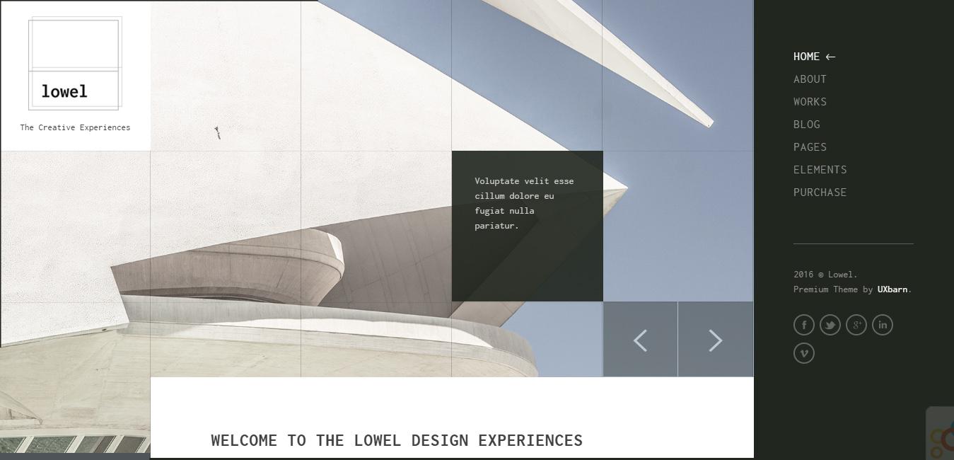 Lowel - Responsive Modern WordPress Theme