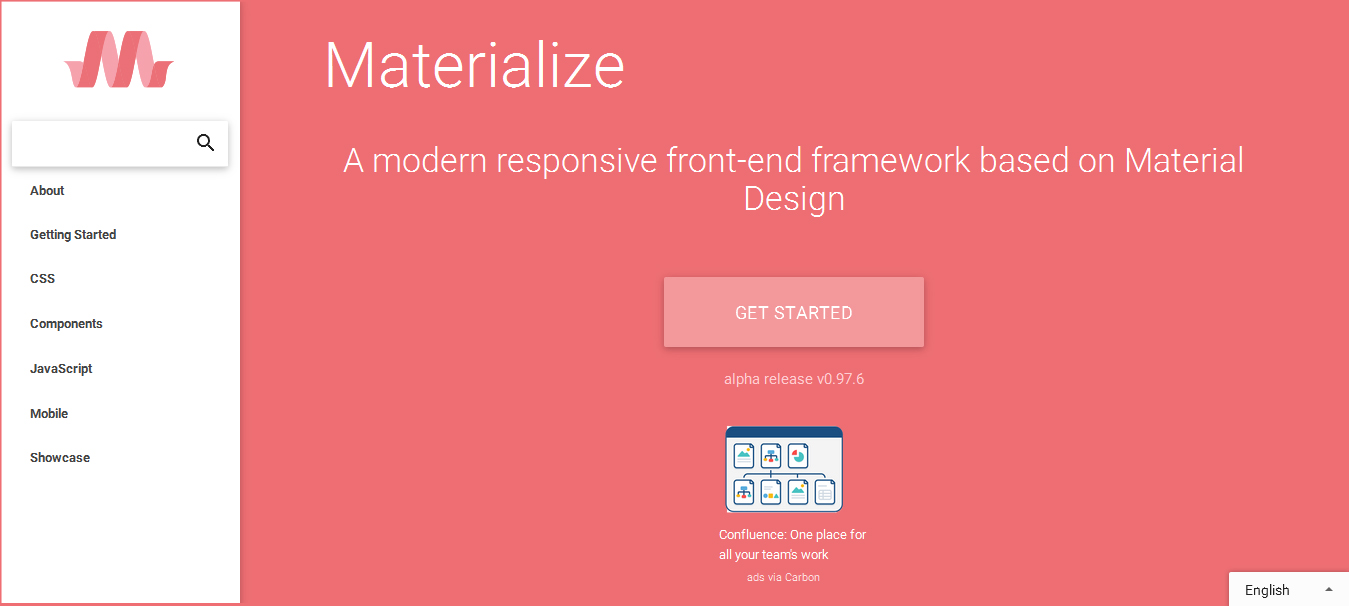 Materialize - material design frameworks