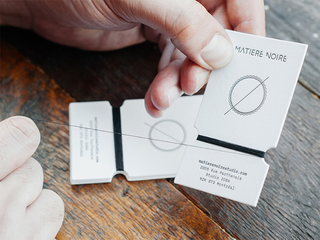 Matiere Noire Handmade Business Card