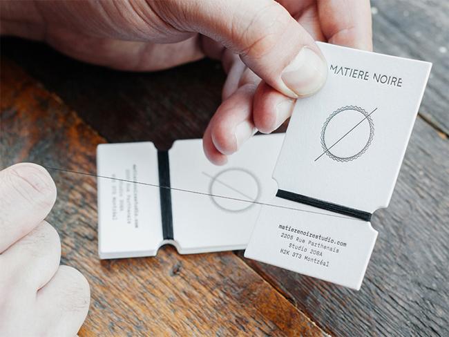 Matiere Noire Handmade Business Card