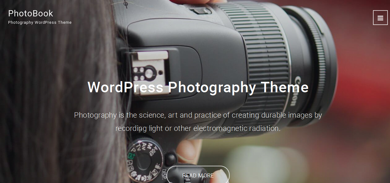 PhotoBook - Bootstrap WordPress Themes