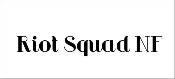 Riot Squad NF Font