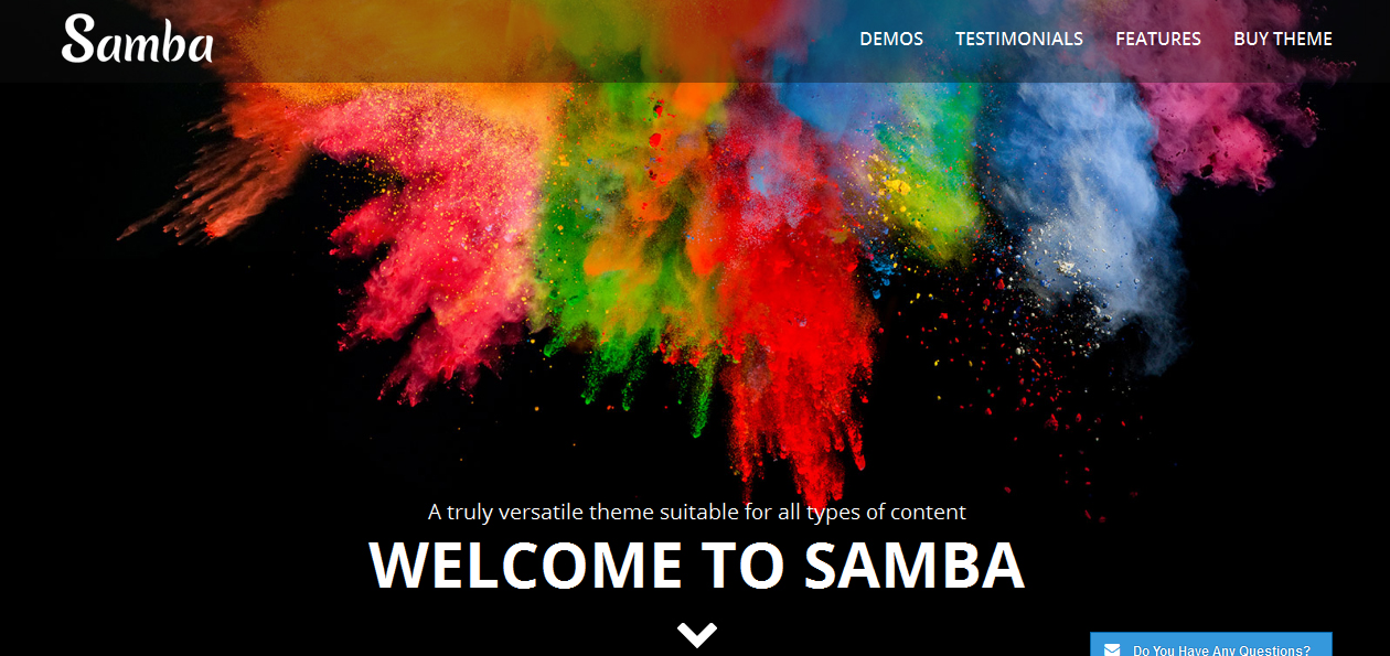 Samba - Colorful WordPress Themes