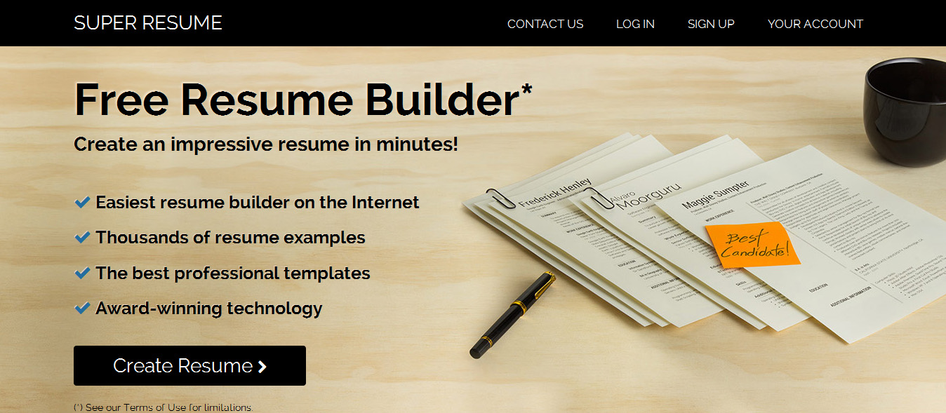 super resume online resume builder