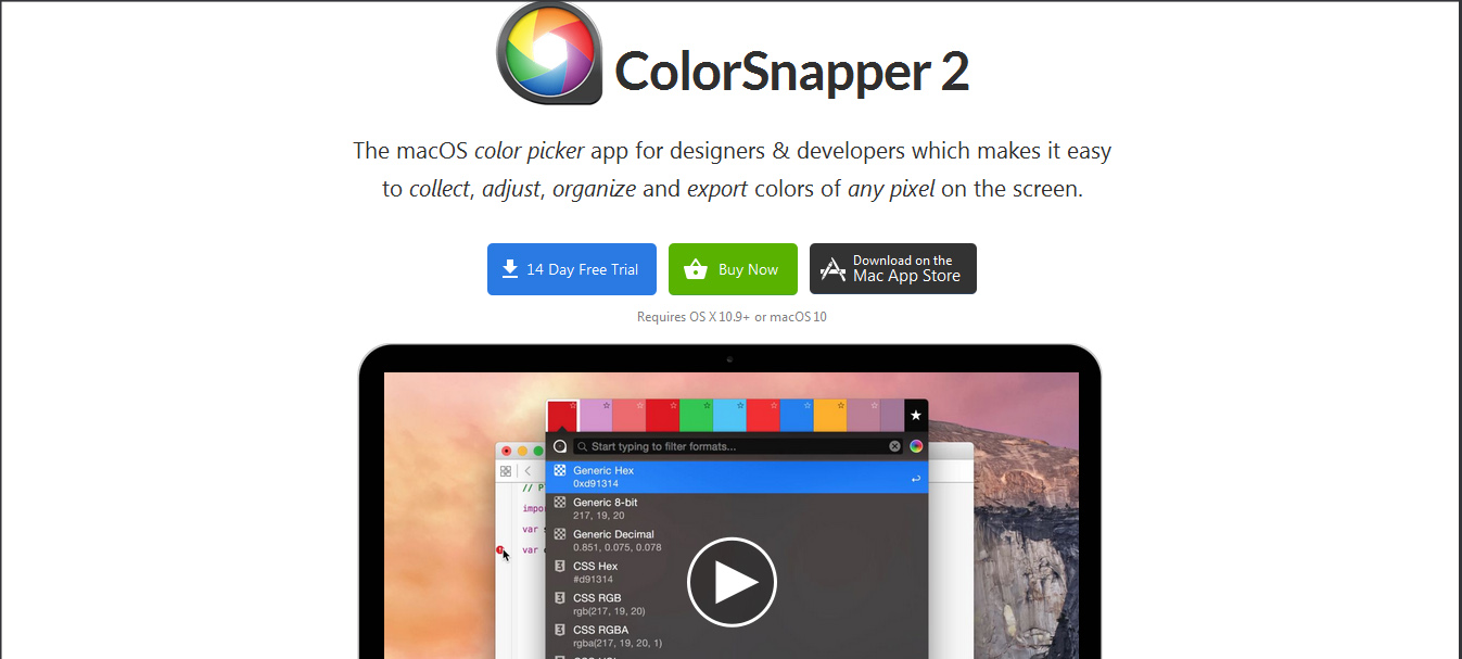 Color picker online rgba - Colorsnapper Color Tools For Designers