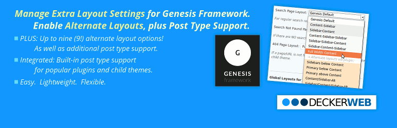 Genesis Layout Extras