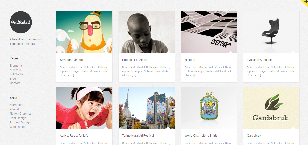Gridlocked - Minimalist WordPress Themes