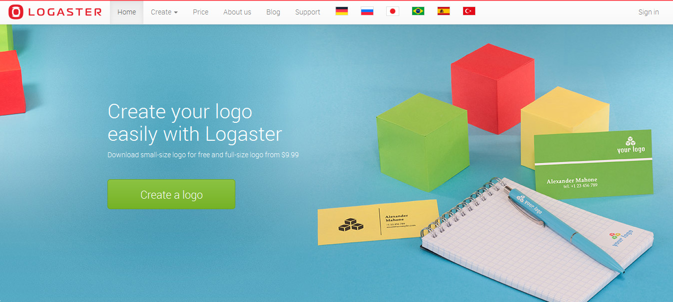 Logaster - logo design softwares