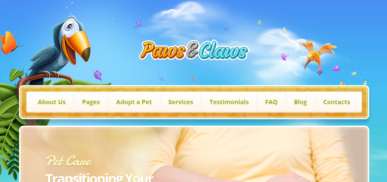 Paws & Claws - Best Pet WordPress Themes