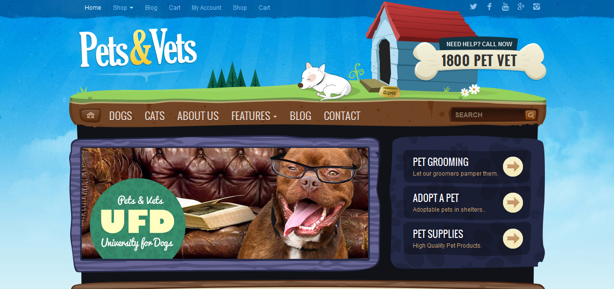 Pets & Vets - Best Pet WordPress Themes