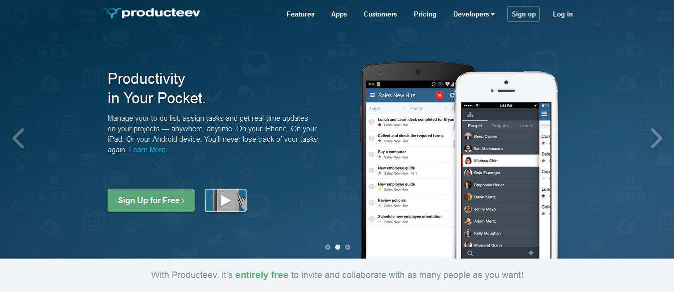 Producteev - online project management tools