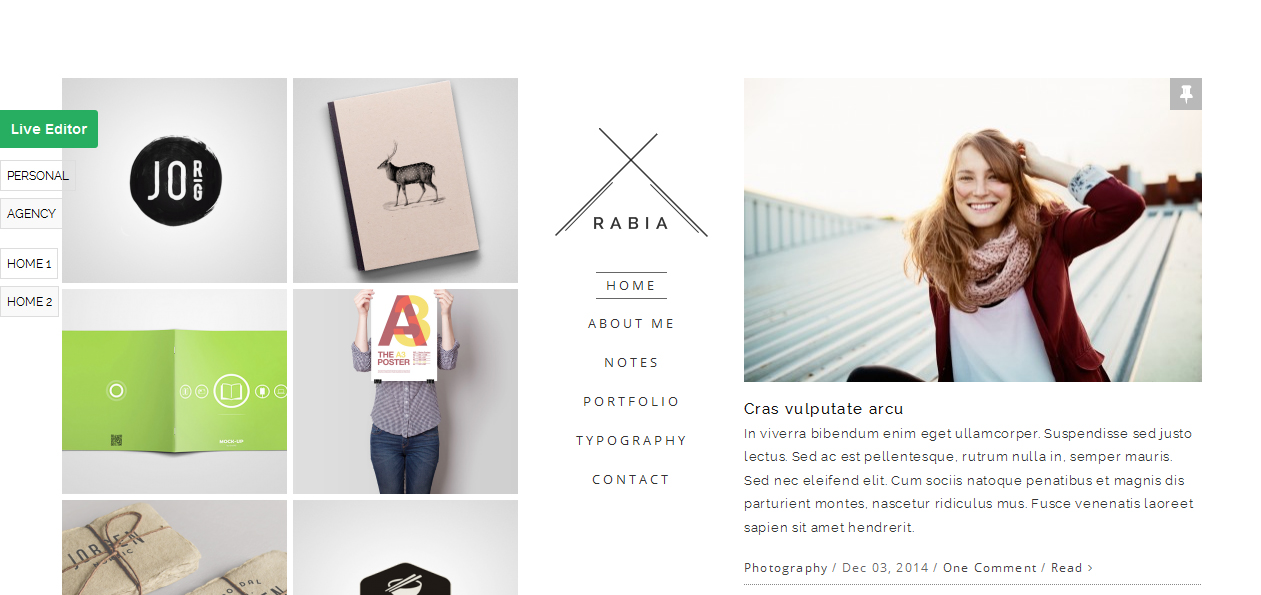 Rabia - Minimalist WordPress Themes