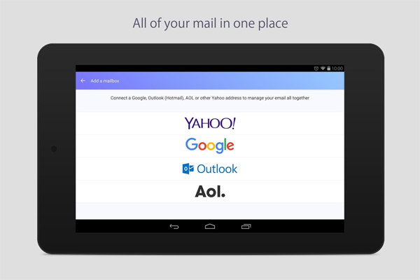 Yahoo Mail - android email apps