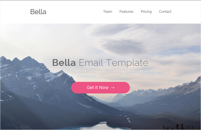 Bella - Free PSD And HTML Email Template