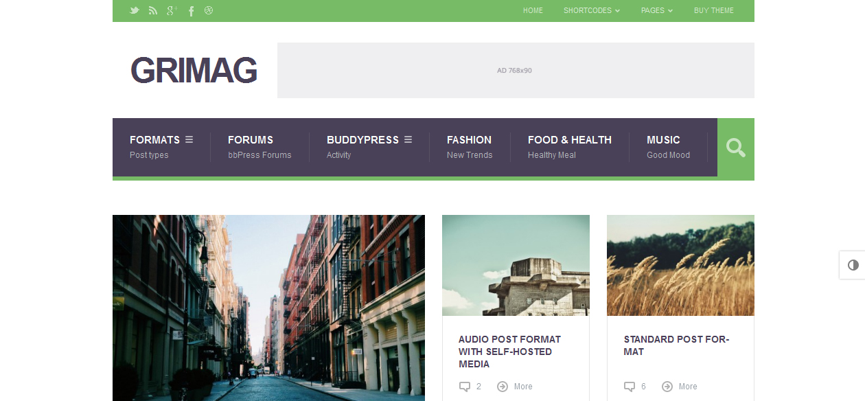 Grimag - Adsense Optimized WordPress Themes
