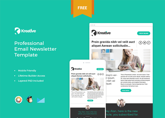10 best free business newsletter templates themecot kreative free email newsletter template fbccfo Image collections
