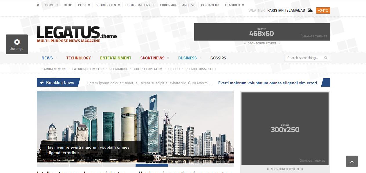Legatus - Adsense Optimized WordPress Themes