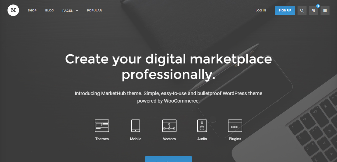 MarketHub - WordPress themes for stock market