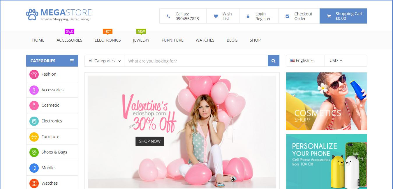 Mega Store - WooCommerce WordPress Theme