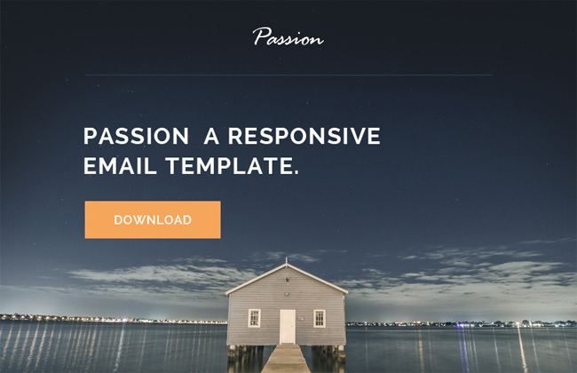 Passion - HTML Responsive Email Template