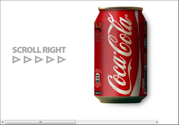 Scrolling Coke Can