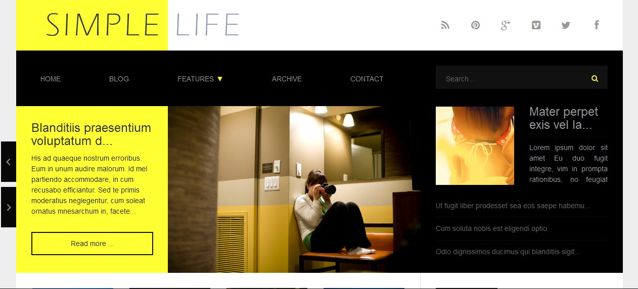 Simple Life - Adsense Optimized WordPress Themes