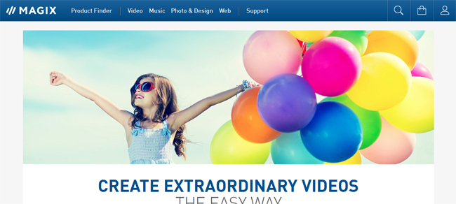 MAGIX Video - video editing softwares