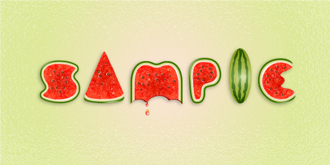 Create a Watermelon Text Effect in Illustrator