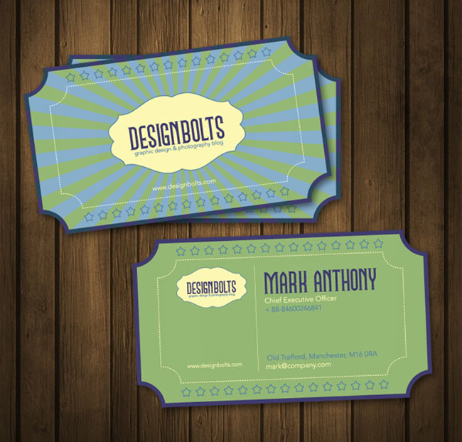Free Retro Vector Business Card Template