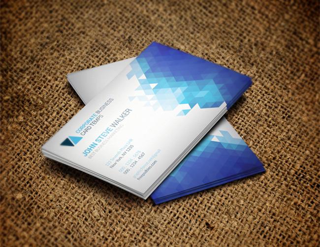 Minimal Metro Style Business Card Template