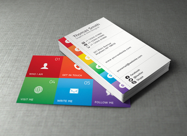 Best Free Business Card Templates ThemeCot - Personal business cards template