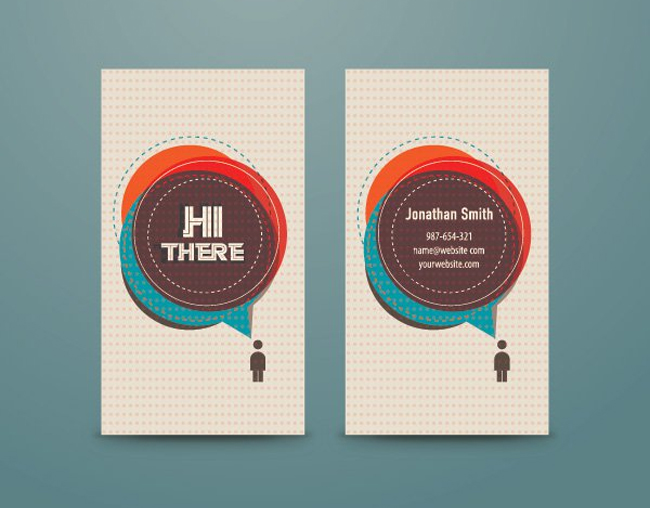 20 best free business card templates themecot for Personal business cards templates