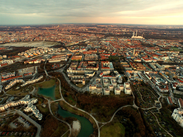 Sun is Ging Down Over Munich