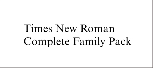 Times New Roman - Web Safe Fonts