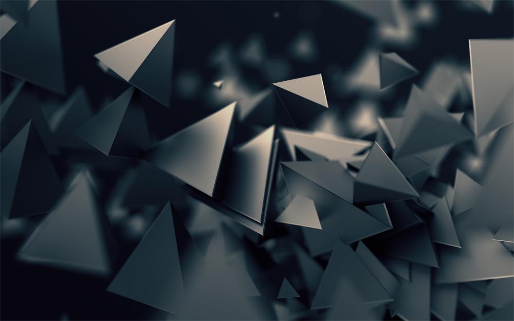 35 best 3d wallpapers for desktop themecot 3d triangles dark wallpaper voltagebd Choice Image